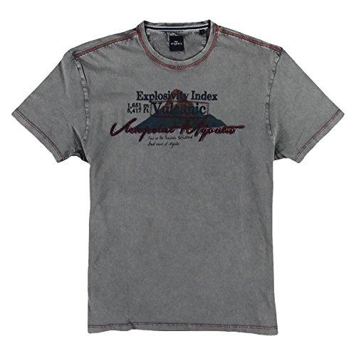 engbers Herren Rundhals T-Shirt, 23866, Grau