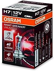 OSRAM 64210NBU NIGHT BREAKER UNLIMITED H7, Halogen headlamp, 64210NBU, 12V passenger car, folding carton box (1 unit)