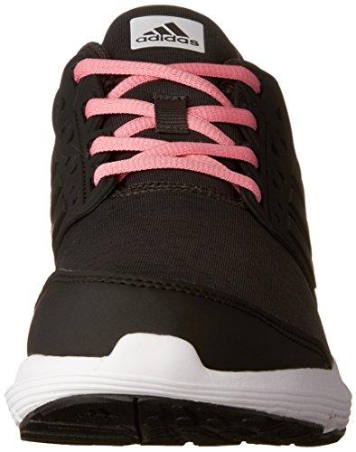 Adidas Womens Galaxy 3.1 Scarpa Da Corsa Alla Caviglia Grigio Scuro Heather / Core Nero / Easy Pink