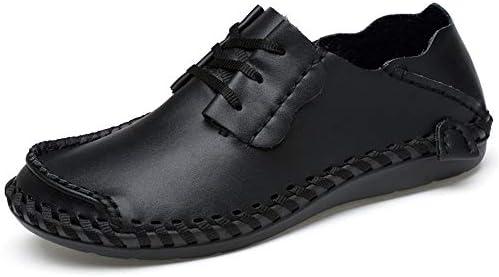 You Are Fashion 男性の靴モカシン快適なスリップオンオフィスビジネスドレスフォーマル男性の靴のための夏の本革ローファーの運転クール夏柔らかい軽量(中空はオプションです) (Color : ブラック, サイズ : 26.5 CM)