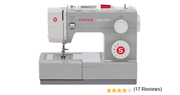 Singer HD 4411 - Máquina de coser mecánica, 11 puntadas, 1100 ppm, color gris: Amazon.es: Hogar