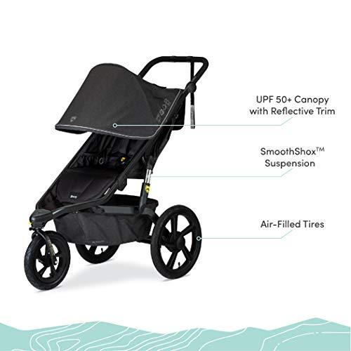 41zAYCysFcL - BOB Gear Alterrain Jogging Stroller | Quick Fold + Adjustable Handlebar + XL UPF 50+ Canopy, Melange Black
