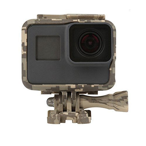 T.Face Standard Protective Frame Case for GoPro Hero 6 5 Black Hero5 Action Camera Camouflage Border Frame for Go Pro 5 Accessory (Gray) by T.Face