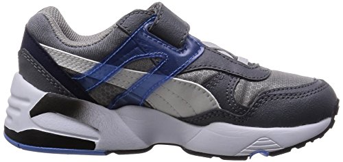 Gris Gray Steel Enfant R698 V Mesh white Baskets Puma Sneakers Neoprene 0zTqwnc7