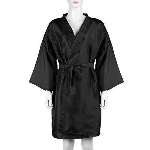 Hairdressing Cape, Waterproof Barber Salon Gown,Bathrobe Beauty Wear Tools (Black) Gowind7
