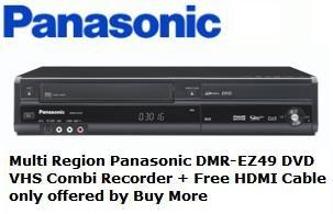 multi region panasonic dmr ez49vebk dvd vhs combi amazon co uk rh amazon co uk Panasonic TV Panasonic DMR Recorders