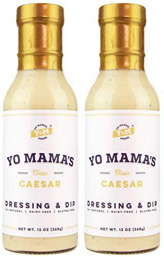 Yo Mama's Keto Friendly Caesar Salad Dressing - (2) -