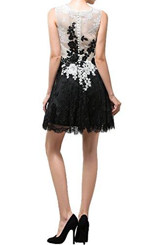 Ballkleid Partykleid Spitze Ivydressing A Abendkleider Damen Linie Pretty Kurz Cocktailkleider Armlos Rundkragen xx0YUq