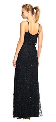 Kleid Adrianna LNG Damen Papell Dress Blouson Schwarz xw68Cwq