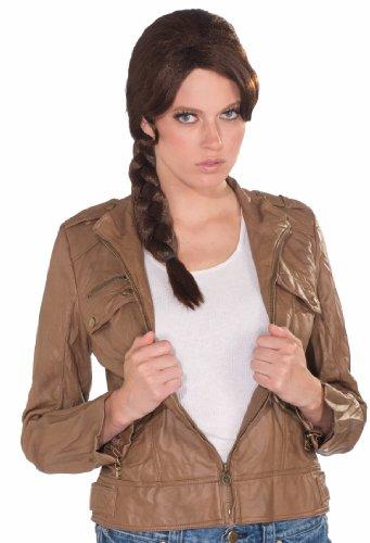 Forum Novelties Women's Survivor Braid Costume Wig, Brown, One Size]()