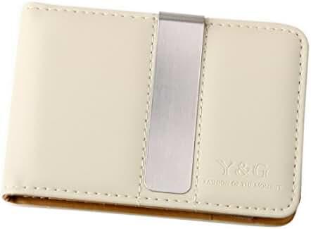 Y&G YCM1301 Classic Fashion Leather Wallet-Money Clip Credit Card Holder, Beige