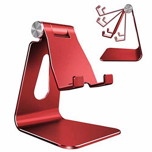 Adjustable Cell Phone Stand, CreaDream Phone Stand, Cradle, Dock, Holder, Aluminum Desktop Stand Compatible with iPhone…