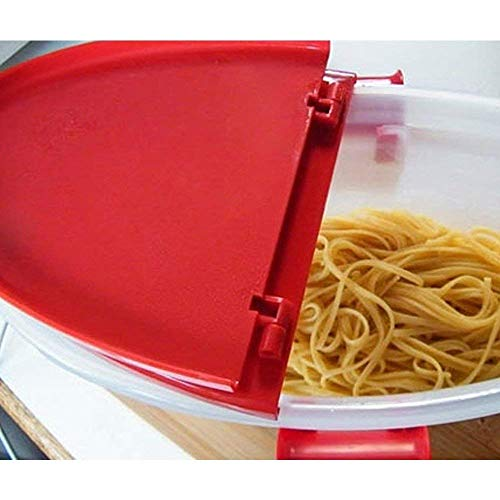 Hot Pasta Boat | Versatile Microwave Pasta Cooker Vegetable Steamer Boat Strainer with Recipe Book | Sturdy Food Grade Heat Resistant PP Material | Effortless Usage Anti Mess No Stick Colander | Massive Capacity Up To 5 Pound | Vibrant Red by Hot Pasta Boat (Image #5)