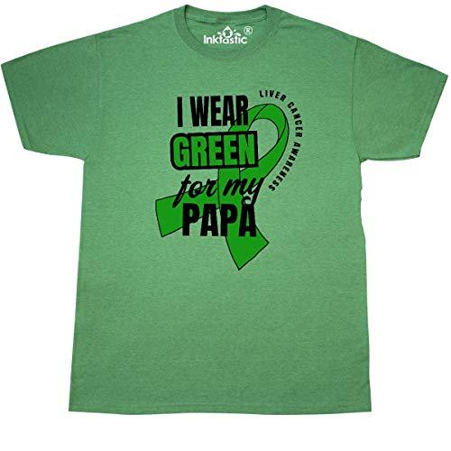 inktastic - I Wear Green for My Papa T-Shirt Medium Retro Heather Green 326d6