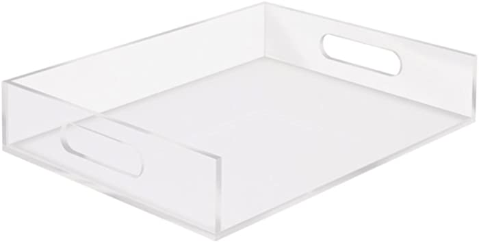 """RUSSELL+HAZEL Acrylic Inbox Stackable Letter Tray, Clear, 12.5"""" x 10.5"""" x 2.5"""""""