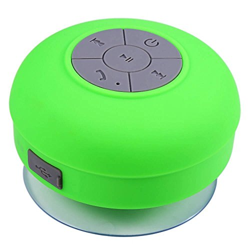 mobbysol™ Portable Bluetooth Speaker with Suction Subwoofer Shower Waterproof Wireless Handsfree  Green