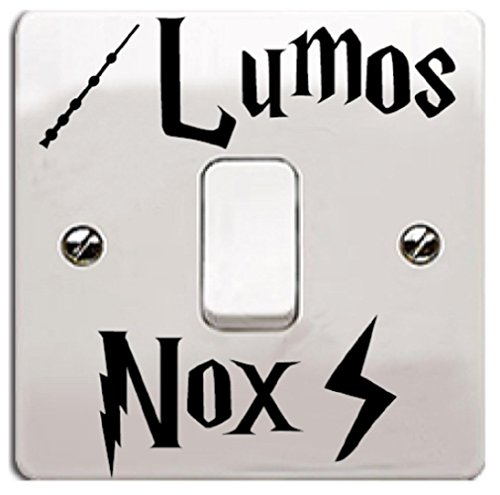 Lumos Nox Vinyl Wall Decal Sticker Black