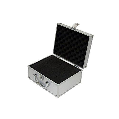 Professional Tool Aluminum Box (SRA Cases Silver Aluminum Hard Case - 9.9 x 7.9 x 4.9 inches, Pre-Scored Foam)
