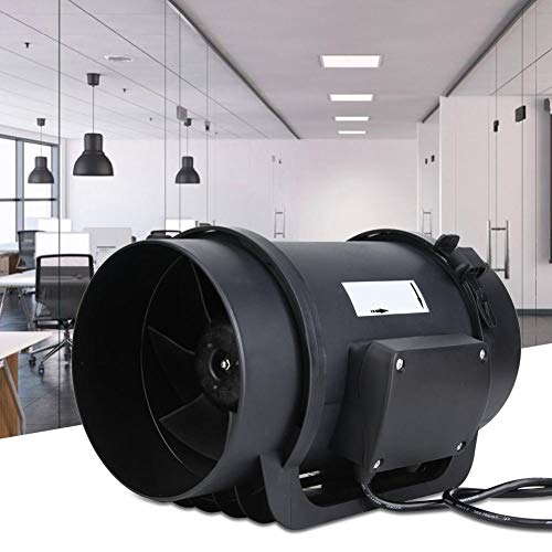 ECモーター換気換気扇、6.3インチECモーター換気換気扇、無段階速度調整、ダクトファンPWM速度コントローラー、470CFM AC100-240V