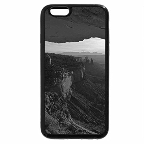 iPhone 6S Plus Case, iPhone 6 Plus Case (Black & White) - sun rises in the grand canyon