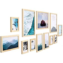 SYXK Photo Frame 11 Piece Photo Frame Wall Gallery Frames,Hanging Wall Template,Painting Core for Living Room Office