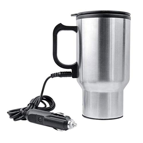 Car accessories - 2019 450ml Car Kettle Electric Water Kettle Portable Stainless Steel Cup Thermoses ()