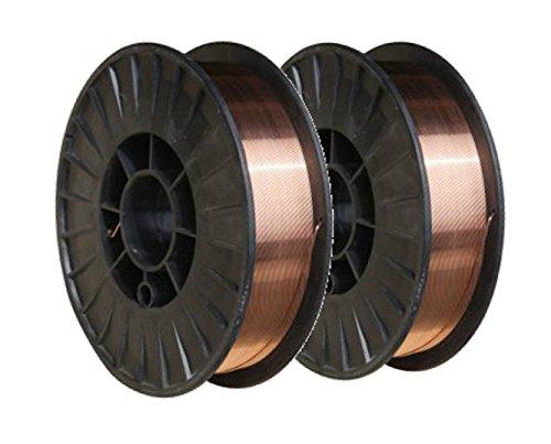 ER70S-6 - MIG Mild & Low Alloy Steel Welding Wire - 11 Lb x 0.030'' (2 SPOOLS) by TGB