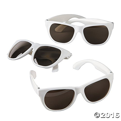 Childs White Nomad Sunglasses Plastic