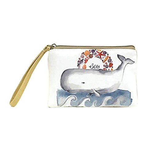Powerfulline Bag Elephant Cute Whale Elk 6 Cat Women's Phone Purse Handbag Mini Printed Coin rq7gpnrRw