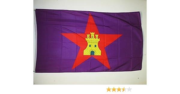 Gran Bandera de Castilla Comunera Pend/ón Estrellado de Castilla 150 x 90 cm Sat/én Durabol
