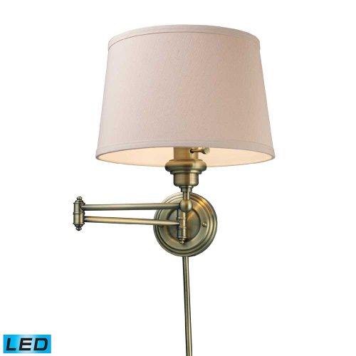 ELK 11220/1-LED, Westbrook Swing Arm Wall Sconce Lighting, 1 Light LED, Antique - Westbrook Outlet Stores