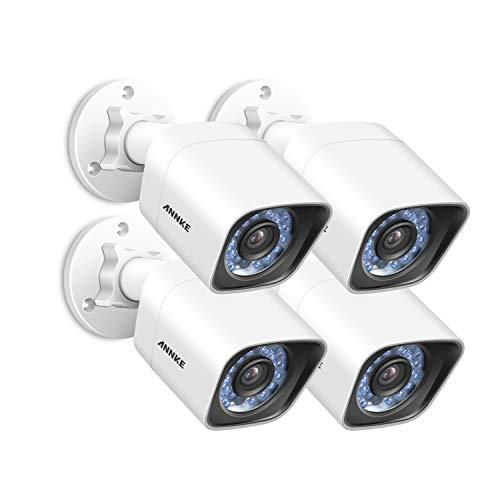 ANNKE 4-Packed 2.0 Mega Pixels (19201080) IP Cameras CCTV System,1/2.8