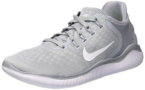 Nike Free Rn 2018 Sz 6.5 Womens Running Wolf Grey/White-White-Volt Shoes