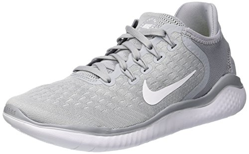 (NIKE Womens Free Run 2018 Running Shoes Wolf Grey/White/Volt 942837-003 Size 10)