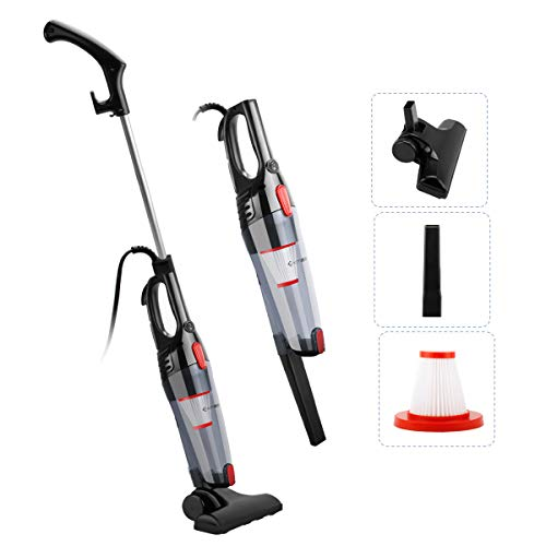 Exmate Vacuum Cleaner Corded Stick Vacuum 2 in 1 Handheld Vacuum, 800W 12KPa Upright Bagless Vac, Ultra Lightweight with…