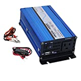 AIMS Power PWRI30012S Pure Sine Power Inverter, 300W Continuous Power, 600W Surge Peak Power, USB Port, Pure Sine Wave, Load Based Fan - Only runs When an Inverter senses a Load