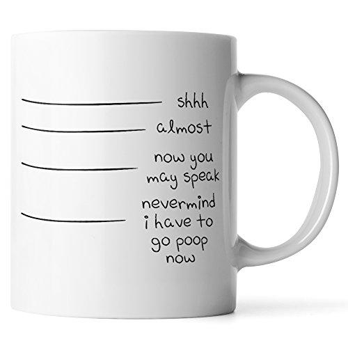 Nevermind I Have to Go Poop Now Mug - Coffee Makes Me Poop - Poop Juice - 11 Ounce Funny Coffee Mug or Tea Cup by Monkey -