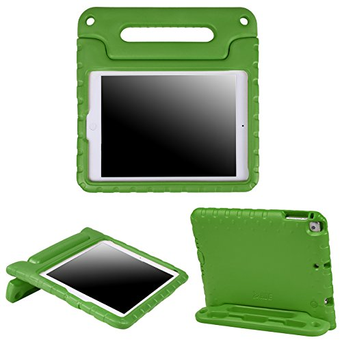 HDE Kids Case for iPad Air 1 and 2 - Shockproof Bumper Kid Friendly Cover w/Adjustable Handle Stand (Green) (Ipad 1st Cover Generation For)