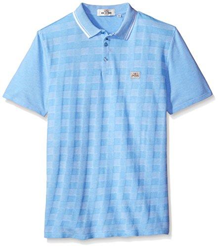 Ben Sherman Men's 2tone Pique Checkerboard Polo Shirt