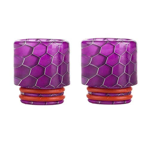 CENGLORY Resin Quick Fitting 810 Drip Tip Connector for RO System Refrigerator Ice Maker Coffee Mod Machine (Purple,2PCS)