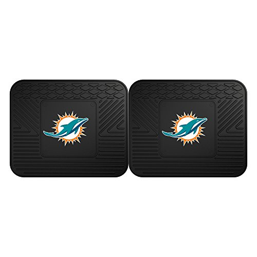 FANMATS 12314 NFL - Miami Dolphins Utility Mat - 2 Piece ()