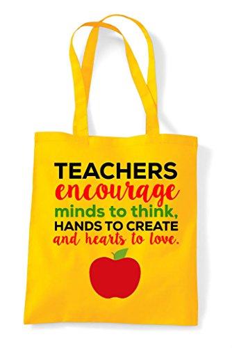 Minds Tote Teachers Yellow Encourage Bag To Think Shopper ZTUTq