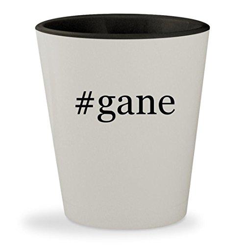 #gane - Hashtag White Outer & Black Inner Ceramic 1.5oz Shot Glass