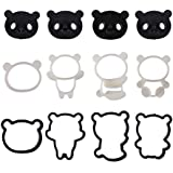 Proktichen Cute Panda Cookie Cutter Set for Kids Fondant Cutters Shapes Baby Shower Cake Decoration Molds Cartoon Cookie Chocolate Maker Stamp Kit Mold