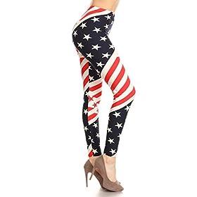 - 41zAhVJzPLL - Leggings Depot Women's Ultra Soft Printed Fashion Leggings BAT27