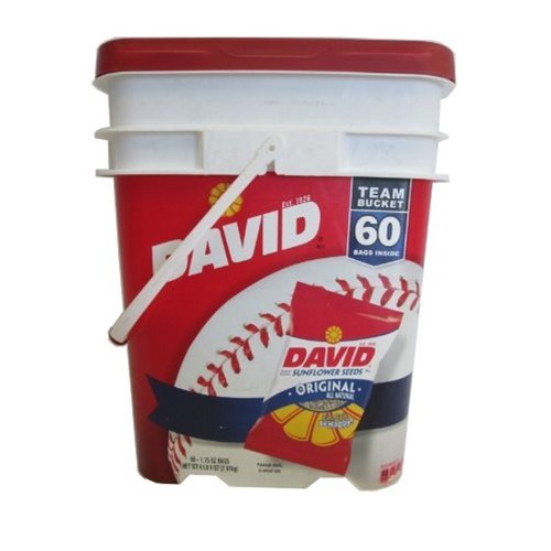 David Sunflower Seed Bucket - 1.75 oz. pk. - 60 ct. by DAVID Seeds
