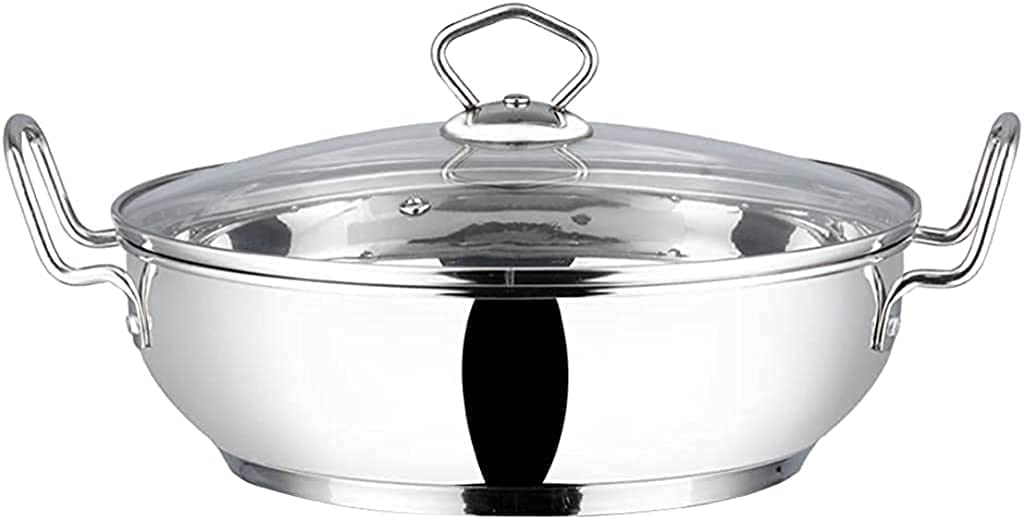Vinod Stainless Steel Kadhai with Glass lid - Induction Friendly (18 cm/ 7 inch) - Capacity : 1.2 Liters (5 cups)