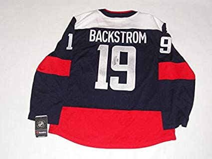 100% authentic d30d1 26333 Signed Nicklas Backstrom Jersey - Adidas 2018 Stadium Series ...