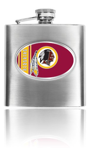 Great American Products Personalized NFL Washington Redskins 8oz stainless steel Flask- Free Engraving