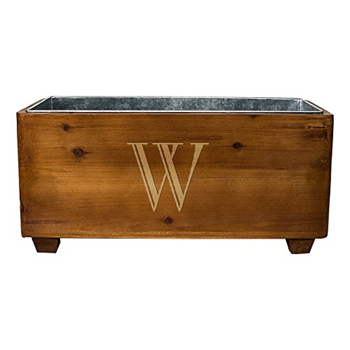 Cathy's Concepts Personalized Wooden Wine Trough, Letter C (Personalized Wine Bucket)